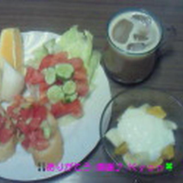 Good-morning Kyonの自家製野菜でモーニング~編じゃよ♪