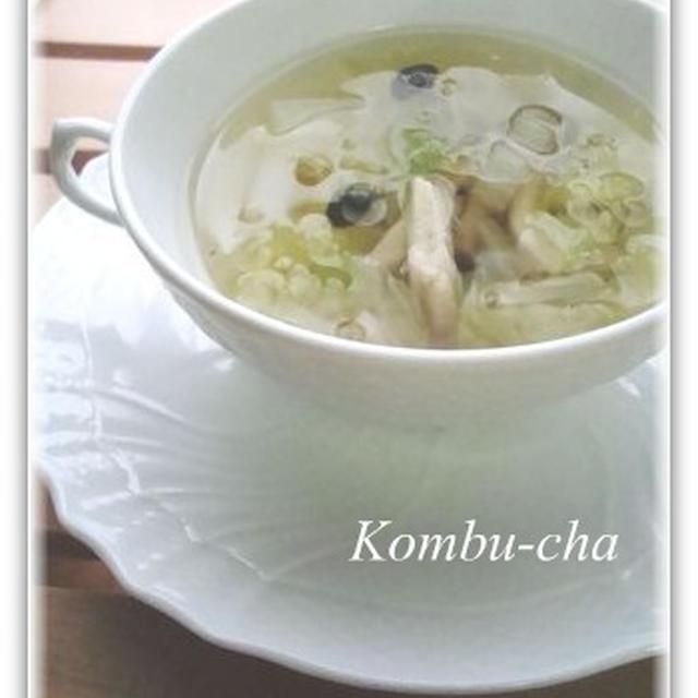 うめこんぶ茶で☆はくさいと干しエビのスープ