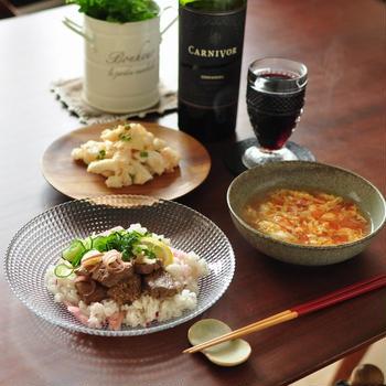 オットからのお土産後日談と【長芋とちくわの明太マヨサラダ】と【トマトの力を思い知るスープ】で晩ごはん