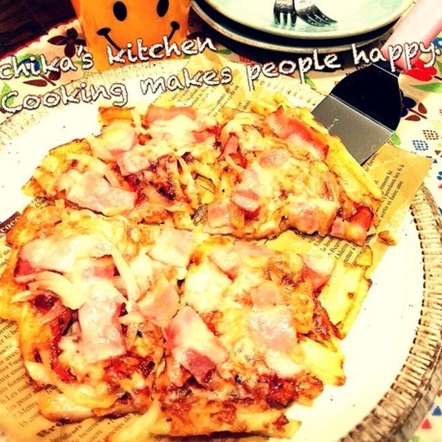 華金♪ と フライパンとトースターで♪ダブルチーズのガレットピザ♡