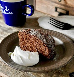 【レシピ】レンジで8分!ホケミde濃厚チョコレートケーキ