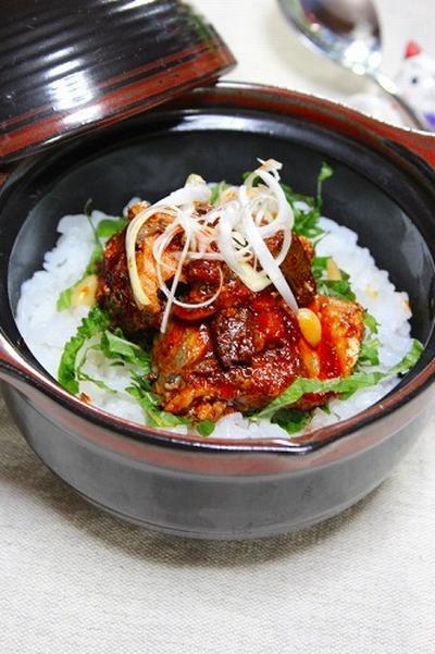 簡単!美味しい! 鯖缶の韓国風丼ぶり