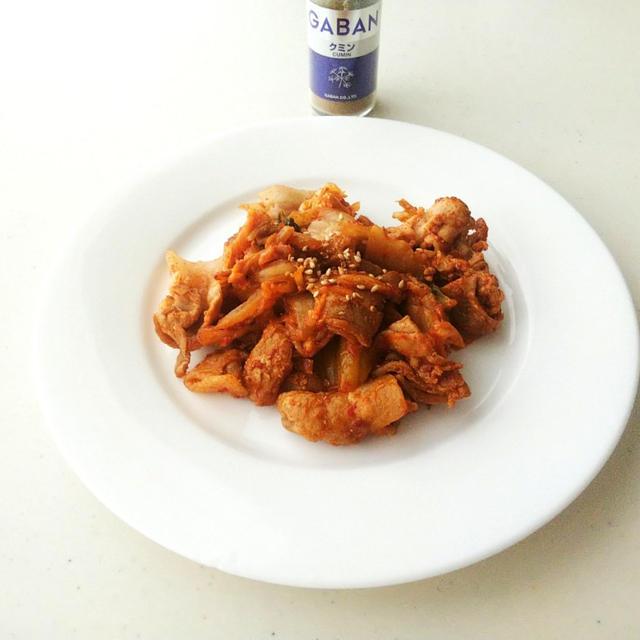 クミン香る 豚キムチ炒め