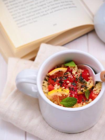【スパイス大使】オレガノとトマトのクスクスinマグカップ