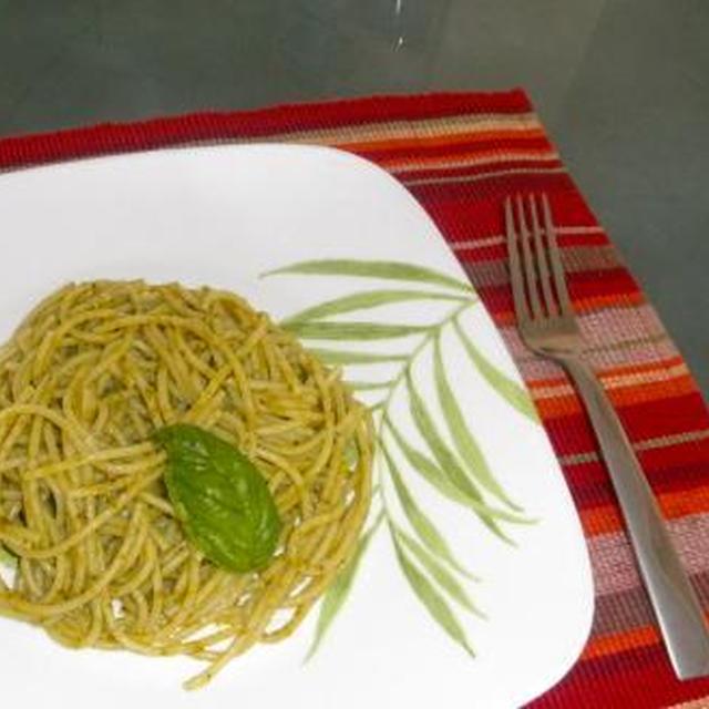 Pasta al Pesto di mia nipote in Hawaii                                                     ハワイで孫娘と作ったパスタ・ジェノベーゼ