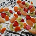 朝からササっと作れる♡華やかフルーツオープンサンド♪