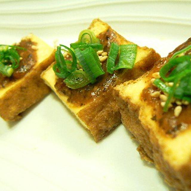 【うちレシピ】厚揚げのトースター焼き★梅みそだれ★簡単おつまみ