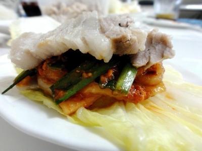 >レシピ・白菜のみずみずしさと豚肉の旨味、豚肉のポッサム by ミオクさん