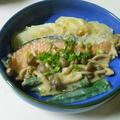 鮭の豆乳味噌かけ☆レンチン奉書蒸し☆ by watakoさん