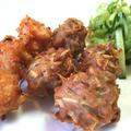 鶏ミンチと海老の二種いきなり揚げ
