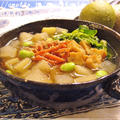 寒天でとろーり根菜ポタージュ☆塩麹スープ