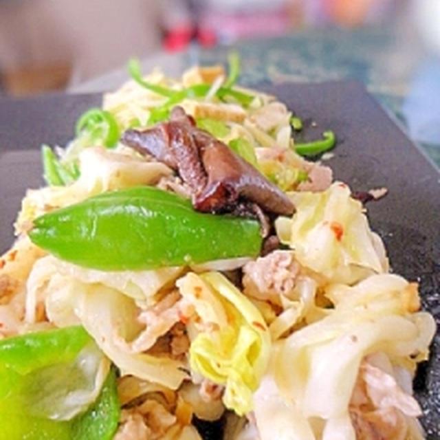 簡単中華☆豚肉とキャベツの炒め物