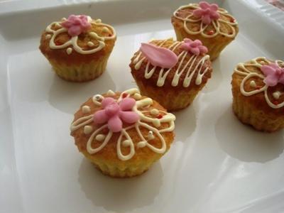 バナナカップケーキ~雛祭り風デコ~