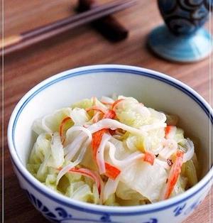 簡単でお勧めの副菜♪ 白菜とカニカマのナムル