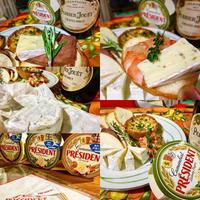 フルーツや野菜とも好相性のカマンベールチーズ。プレジデントの本格派生カマンベールがあれば、パーティーやおもてなしのテーブルがぐっと華やかに♪