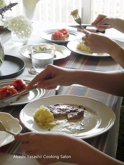 5・6月料理レッスン【テーブルと料理】
