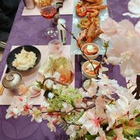 おうちでお花見♪米油でサクッと揚げる春野菜の天ぷらと一緒に⸜❤︎⸝
