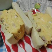 高野豆腐でふっくらパン♪ 糖質制限☆ カルボナーラ玉子サンド