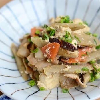 常備菜に◎冷蔵庫の余り食材も使い切れる「炒り豆腐」味バリエ4選