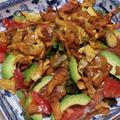 サーモンのアボカドのサラダ牡蠣醤油風味