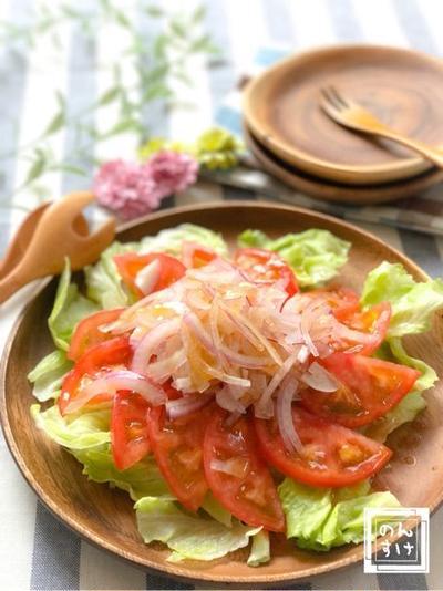 【レシピ】トマトとアーリーレッドの簡単サラダ
