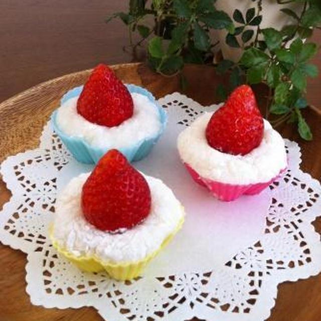 リメイク残ったお餅でイチゴのクリーム大福♡