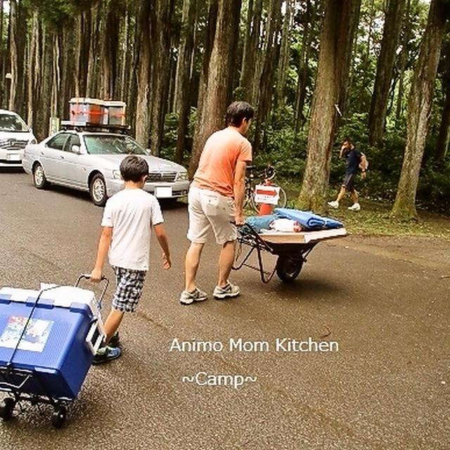 家族キャンプはエコキャンプ☆フライパンひとつですべての調理をします!