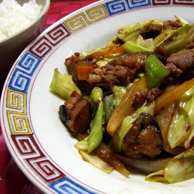 茄子と万願寺唐辛子の回鍋肉(ホイコーロー)