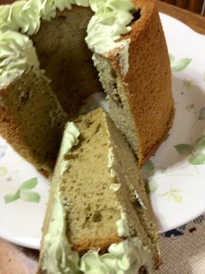 米粉抹茶シフォンケーキ