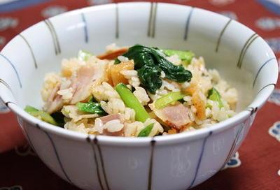 12/07/02 小松菜とキムチの混ぜご飯