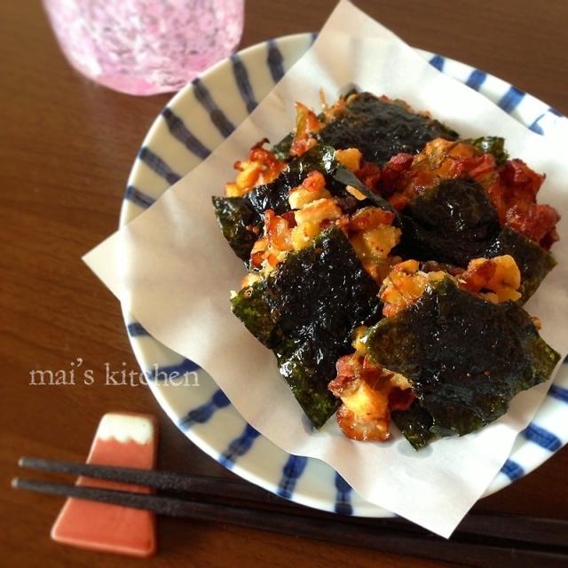 【簡単節約】ちくわと高野豆腐とめかぶのつまみ揚げ♪