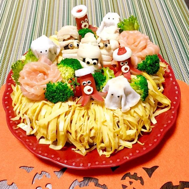 ハロウィンだよ〜モンブランケーキ寿司