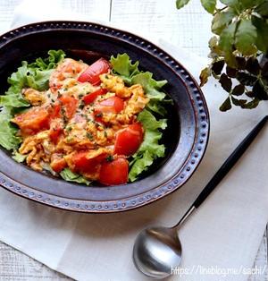 簡単ランチに!とろ〜りトマト玉子チーズ丼【#簡単レシピ#ランチ#丼】