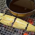 炭火で作る『うな丼』