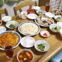 なんちゃって北京ダックと小松菜とブナピーのオイスター炒めとキムチスープでうちごはん(レシピ付)
