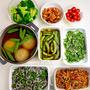 【野菜の作りおき】丸ごと新タマネギのだし煮、砂糖えんどうの蒸し浸しなど