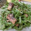魚缶を混ぜるだけ♪ 柚子胡椒をきかせて☆ 水菜といわし味噌煮のサラダ