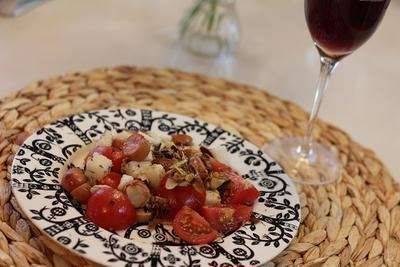 スパイス大使☆GABANタイムで♪スライスアーモンドとトマトと長いも*ウインナーの一皿☆