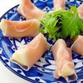ラ・フランスと生ハムの秋彩サラダ♪巻くだけ簡単おもてなしレシピ&クックパッドの公開レシピ50品達成!