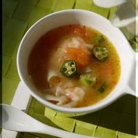 ガンボ風 海老ワンタンスープ