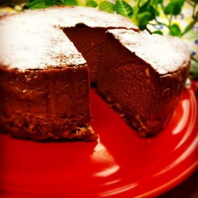 バナナ消費!オーブンまで10分のチョコバナナNYチーズケーキ
