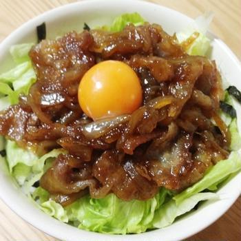 柔らか豚丼
