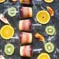 美容と健康果物で作るビタミンCでお肌も体も美しく♡レインボーアイスキャンディー
