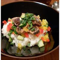 鰹のカラフルサラダ寿司
