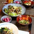 ◆鯵の唐揚げとカツオのたたきサラダでおうちごはん♪ by fellowさん