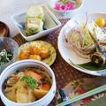 【朝ご飯は和食セットで 鰯のチーズロール/肉じゃが他】【昼は焼き肉丼】のご紹介です。