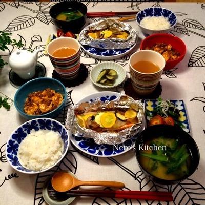 鮭のホイル焼き・麻婆豆腐♪