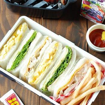 【男子高校生】サンドイッチ弁当