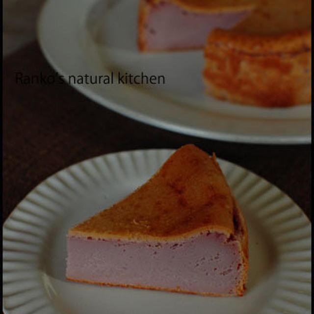紫いものチーズケーキ