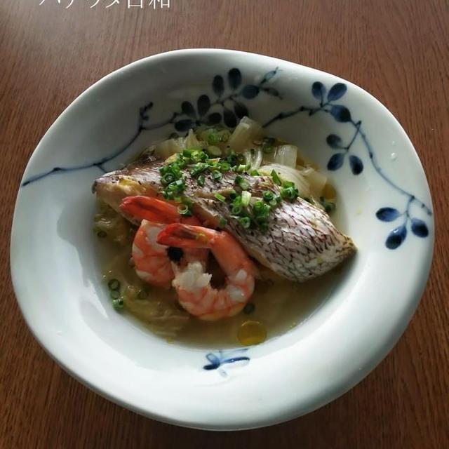 鯛とエビと白菜の洋風あっさり煮